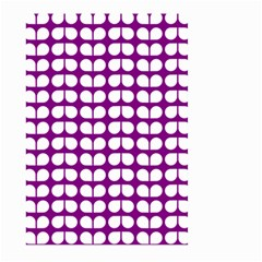 Purple And White Leaf Pattern Large Garden Flag (Two Sides)