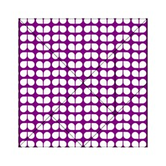 Purple And White Leaf Pattern Acrylic Tangram Puzzle (6  x 6 )