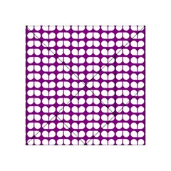 Purple And White Leaf Pattern Acrylic Tangram Puzzle (4  x 4 )