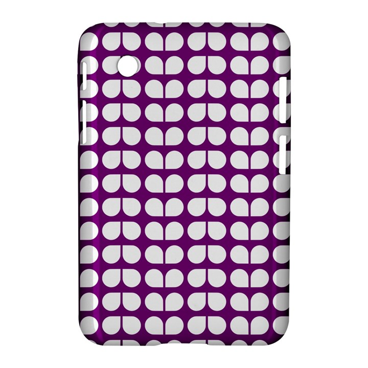 Purple And White Leaf Pattern Samsung Galaxy Tab 2 (7 ) P3100 Hardshell Case