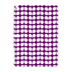 Purple And White Leaf Pattern Samsung Galaxy Note 10 1 (p600) Hardshell Case