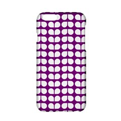 Purple And White Leaf Pattern Apple iPhone 6 Hardshell Case