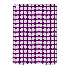 Purple And White Leaf Pattern iPad Air 2 Hardshell Cases