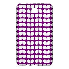 Purple And White Leaf Pattern Samsung Galaxy Tab 4 (7 ) Hardshell Case