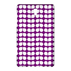 Purple And White Leaf Pattern Samsung Galaxy Tab S (8.4 ) Hardshell Case