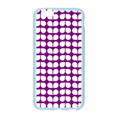 Purple And White Leaf Pattern Apple Seamless iPhone 6 Case (Color)