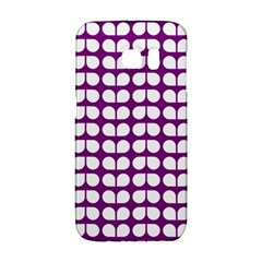 Purple And White Leaf Pattern Galaxy S6 Edge