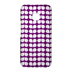 Purple And White Leaf Pattern HTC One M9 Hardshell Case