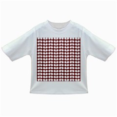 Red And White Leaf Pattern Infant/Toddler T-Shirts