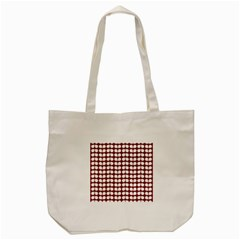 Red And White Leaf Pattern Tote Bag (cream)