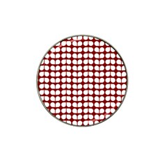 Red And White Leaf Pattern Hat Clip Ball Marker (10 Pack)