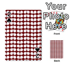 Red And White Leaf Pattern Playing Cards 54 Designs