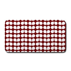 Red And White Leaf Pattern Medium Bar Mats