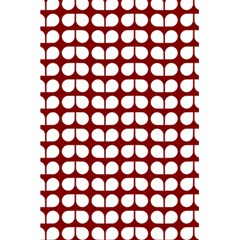 Red And White Leaf Pattern 5.5  x 8.5  Notebooks