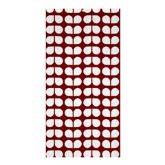 Red And White Leaf Pattern Shower Curtain 36  x 72  (Stall)