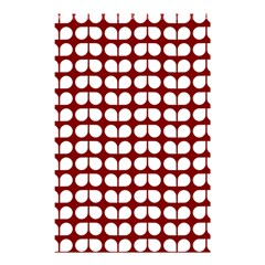 Red And White Leaf Pattern Shower Curtain 48  x 72  (Small)
