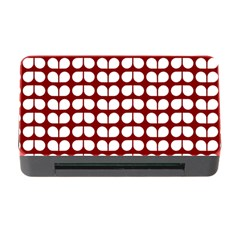 Red And White Leaf Pattern Memory Card Reader With Cf