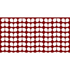 Red And White Leaf Pattern YOU ARE INVITED 3D Greeting Card (8x4)