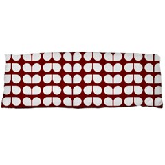 Red And White Leaf Pattern Body Pillow Cases (Dakimakura)