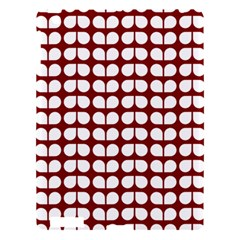 Red And White Leaf Pattern Apple Ipad 3/4 Hardshell Case