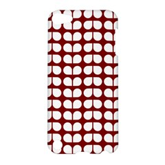 Red And White Leaf Pattern Apple Ipod Touch 5 Hardshell Case