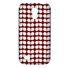Red And White Leaf Pattern Galaxy S4 Mini