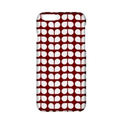 Red And White Leaf Pattern Apple iPhone 6 Hardshell Case