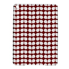 Red And White Leaf Pattern iPad Air 2 Hardshell Cases