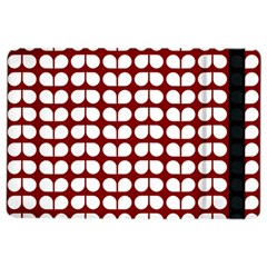 Red And White Leaf Pattern iPad Air 2 Flip