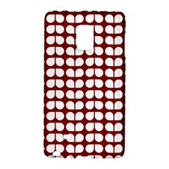 Red And White Leaf Pattern Galaxy Note Edge