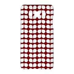 Red And White Leaf Pattern Samsung Galaxy A5 Hardshell Case