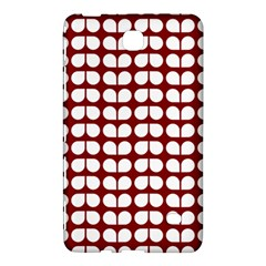 Red And White Leaf Pattern Samsung Galaxy Tab 4 (8 ) Hardshell Case