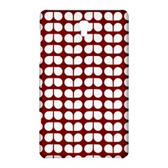 Red And White Leaf Pattern Samsung Galaxy Tab S (8 4 ) Hardshell Case