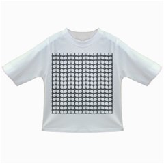 Gray And White Leaf Pattern Infant/Toddler T-Shirts