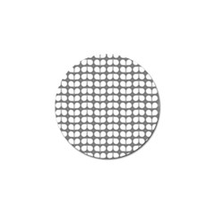 Gray And White Leaf Pattern Golf Ball Marker