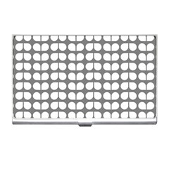 Gray And White Leaf Pattern Business Card Holders