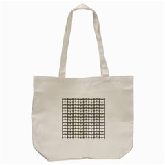 Gray And White Leaf Pattern Tote Bag (cream)
