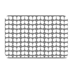 Gray And White Leaf Pattern Plate Mats