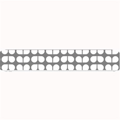 Gray And White Leaf Pattern Small Bar Mats