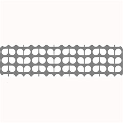 Gray And White Leaf Pattern Large Bar Mats