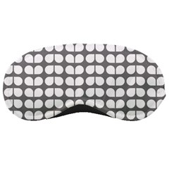 Gray And White Leaf Pattern Sleeping Masks