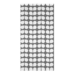 Gray And White Leaf Pattern Shower Curtain 36  X 72  (stall)