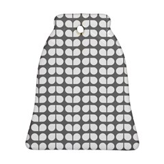 Gray And White Leaf Pattern Ornament (bell)