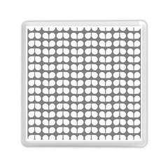 Gray And White Leaf Pattern Memory Card Reader (square)