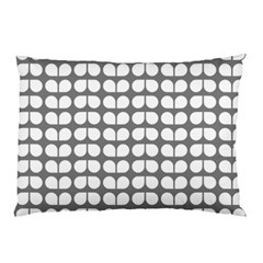 Gray And White Leaf Pattern Pillow Cases (Two Sides)