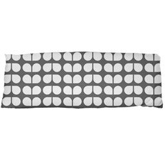 Gray And White Leaf Pattern Body Pillow Cases (Dakimakura)