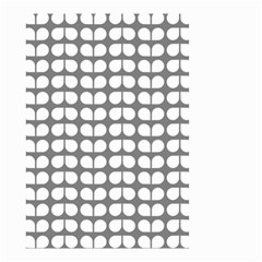 Gray And White Leaf Pattern Small Garden Flag (Two Sides)