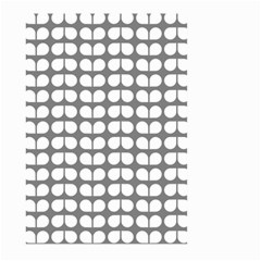 Gray And White Leaf Pattern Large Garden Flag (two Sides)