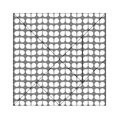 Gray And White Leaf Pattern Acrylic Tangram Puzzle (6  x 6 )