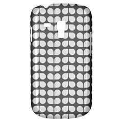 Gray And White Leaf Pattern Samsung Galaxy S3 Mini I8190 Hardshell Case